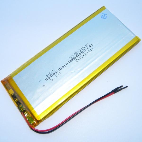 Аккумулятор для планшета - HST-3555130P - 3000mAh 3.7v - размер 131мм на 55мм