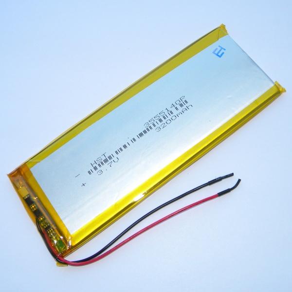 Аккумулятор для планшета - HST-3555140P - 3200mAh 3.7v - размер 140мм на 52мм