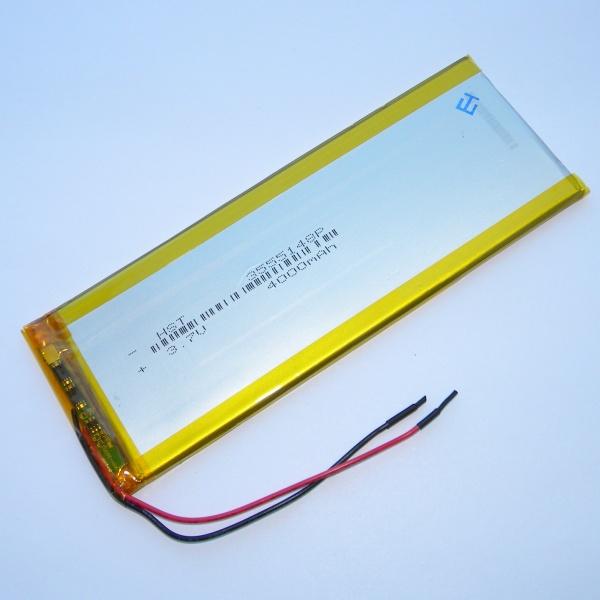 Аккумулятор для планшета - HST-3555148P - 4000mAh 3.7v - размер 148мм на 55мм