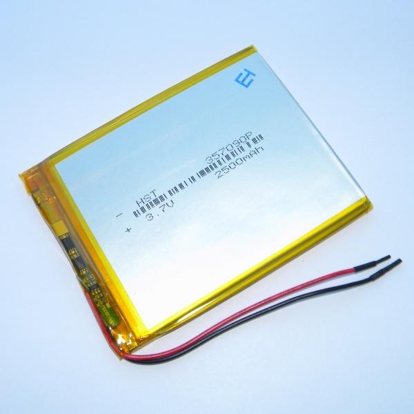 Аккумулятор для планшета - HST-357090P - 2500mAh 3.7v - размер 91мм на 70мм