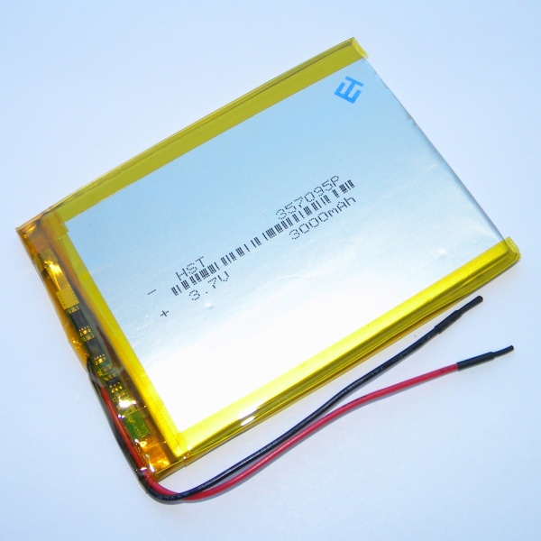 Аккумулятор для планшета - HST-357095P - 3000mAh 3.7v - размер 95мм на 70мм