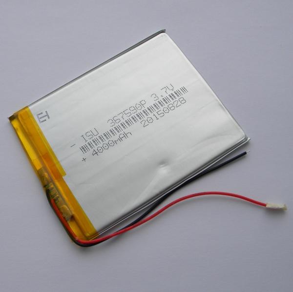 Аккумулятор для планшета - HST-367590P - 4000mAh 3.7v - размер 90мм на 75мм