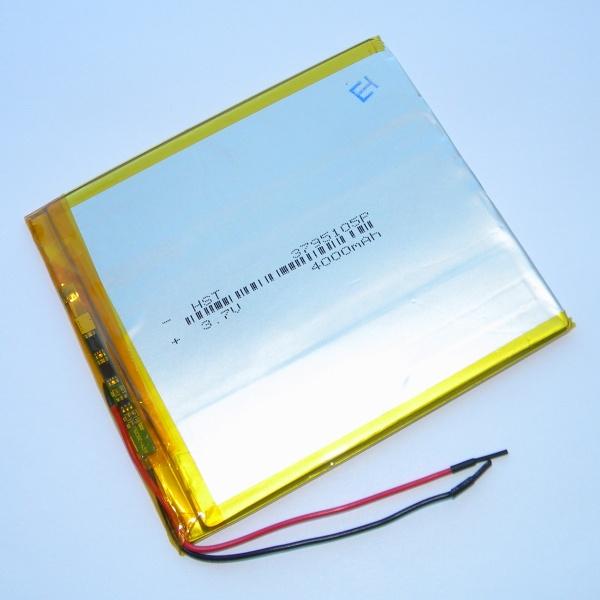 Аккумулятор для планшета - HST-3795105P - 4000mAh 3.7v - размер 105мм на 95мм