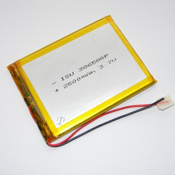 Аккумулятор для планшета - HST-386580P - 2500mAh 3.7v - размер 80мм на 65мм
