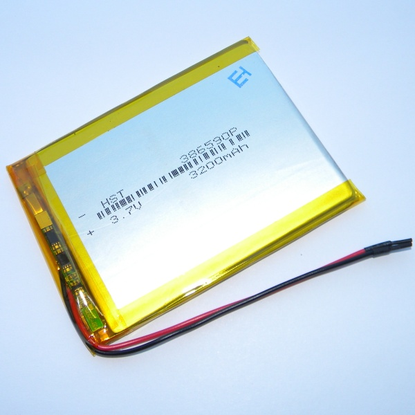 Аккумулятор для планшета - HST-386590P - 3200mAh 3.7v - размер 86мм на 63мм