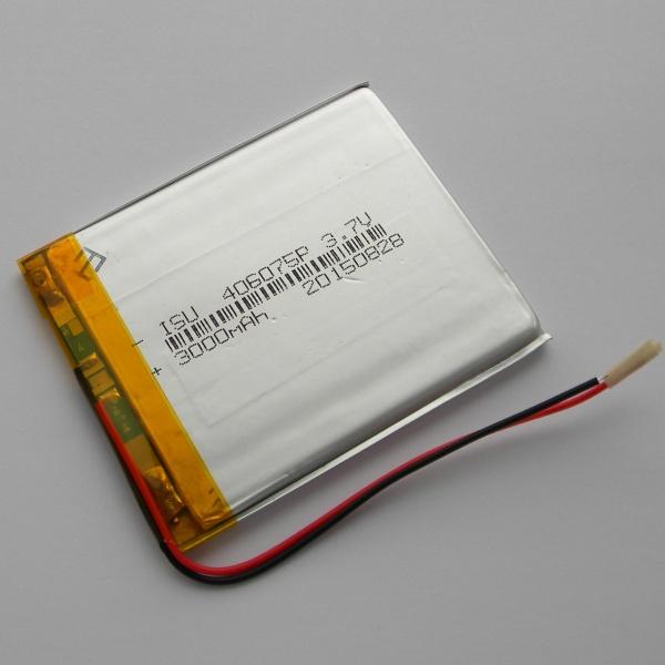 Аккумулятор для планшета - HST-406075P - 3000mAh 3.7v - размер 75мм на 60мм