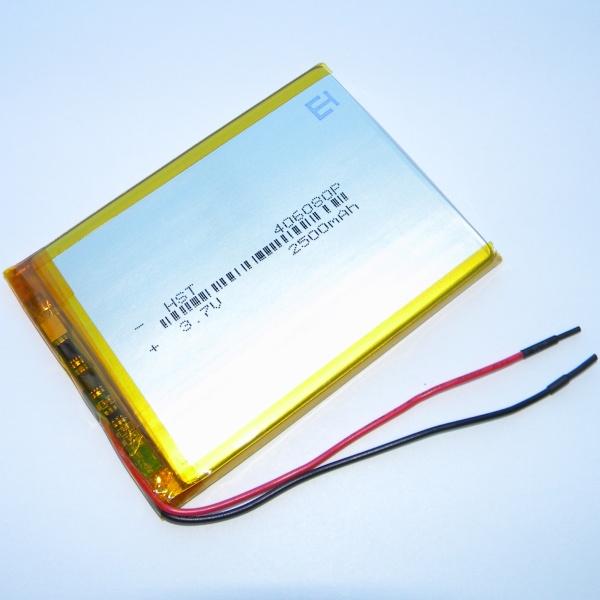 Аккумулятор для планшета - HST-406080P - 2500mAh 3.7v - размер 85мм на 61мм