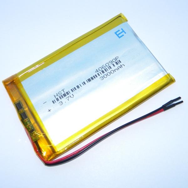 Аккумулятор для планшета - HST-406090P - 3000mAh 3.7v - размер 90мм на 58мм