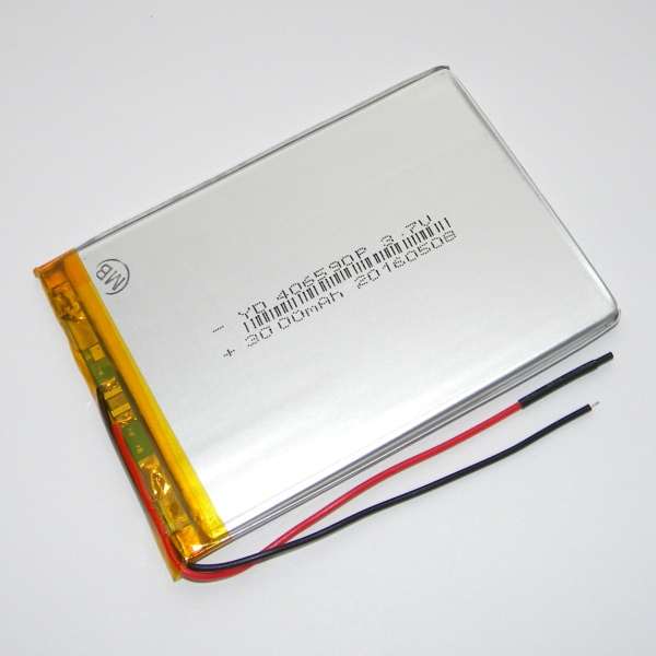 Аккумулятор для планшета - HST-406590P - 3000mAh 3.7v - размер 90мм на 65мм