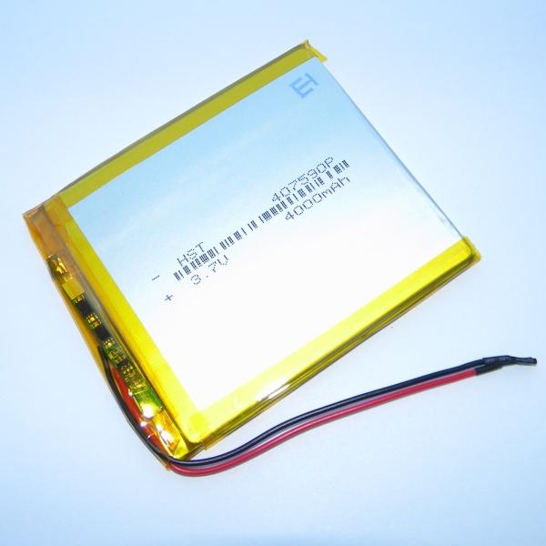 Аккумулятор для планшета - HST-407590P - 4000mAh 3.7v - размер 87мм на 75мм