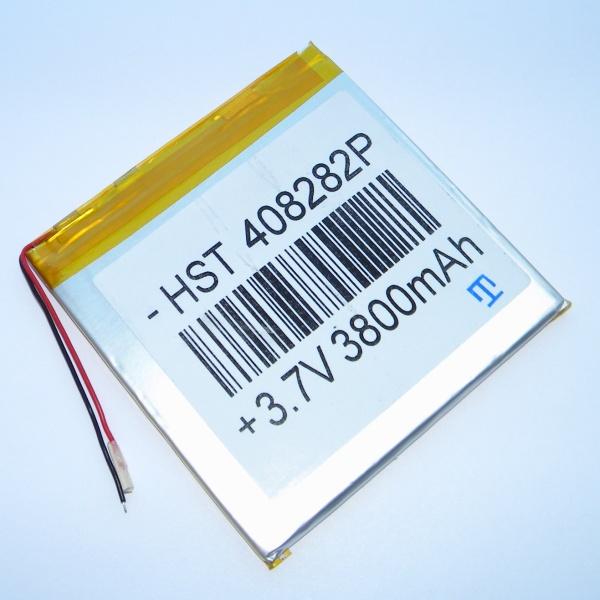 Аккумулятор для планшета - HST-408282P - 3800mAh 3.7v - размер 83мм на 80мм