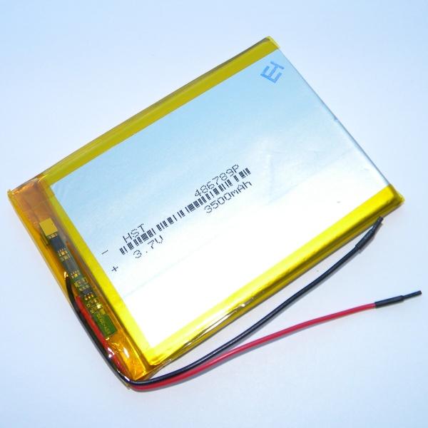 Аккумулятор для планшета - HST-486789P - 3500mAh 3.7v - размер 91мм на 67мм
