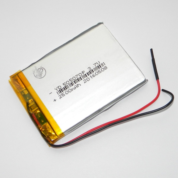 Аккумулятор для планшета - HST-505070P - 2500mAh 3.7v - размер 70мм на 50мм