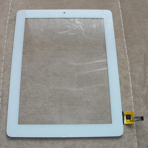 Тачскрин - сенсорное стекло E-C97015-01 емкостный - 9.7 дюймов - размер 237мм на 185мм - белый