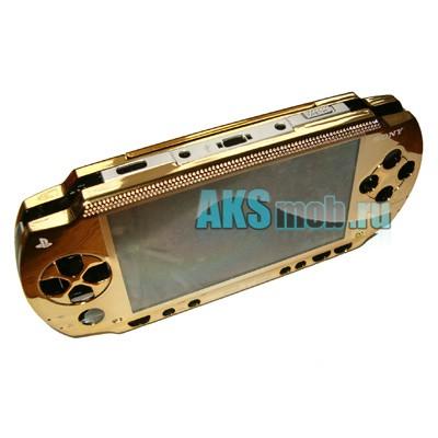 Корпус PSP 1000 Fat (ЗОЛОТОЙ) передняя и задняя части + все кнопки Оригинал