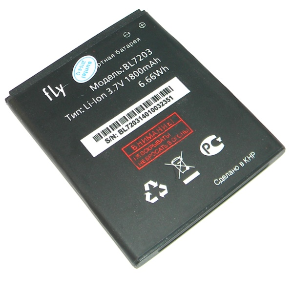 Аккумуляторная батарея (АКБ) для Fly IQ4405 Quad Evo Chic 1 / IQ4413 Chic 3 - Battery BL7203 - Original