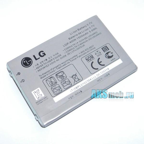 Оригинальный аккумулятор (батарея) LGIP-400N для мобильных телефонов LG