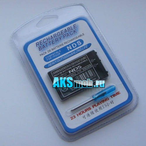 Аккумулятор 850mah и отвертка для Nintendo DS (NDS)