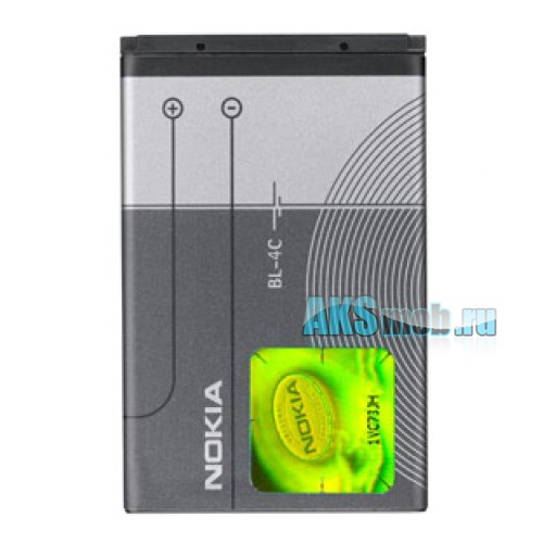 Оригинальная аккумуляторная батарейка Nokia 6103 (BL-4C, Li-Ion 890 mAh, РСТ)