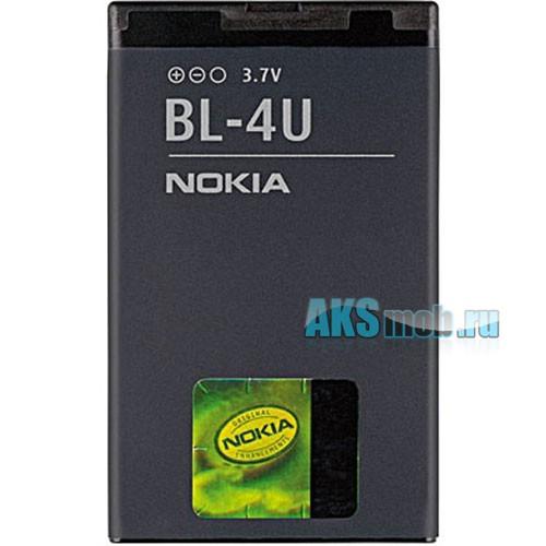 Оригинальная аккумуляторная батарейка Nokia E66 (BL-4U, Li-Ion 1000 mAh, РСТ)