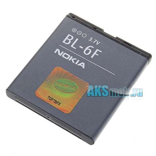 Оригинальная аккумуляторная батарейка Nokia N95 8Gb (BL-6F, Li-Ion 1200 mAh, РСТ)