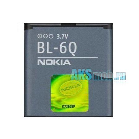 Оригинальная аккумуляторная батарейка Nokia 6700c (BL-6Q, Li-Ion 970 mAh, РСТ)