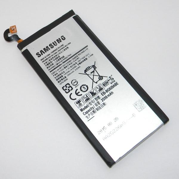 Оригинальный аккумулятор (батарея) для Samsung Galaxy S6 SM-G920F / SM-G925F / Duos SM-G920FD - EB-BG920ABE