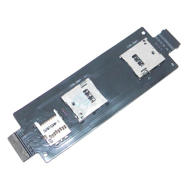 Плата (шлейф) 2х sim карт и карты памяти для Asus ZenFone 2 (ZE551ML)