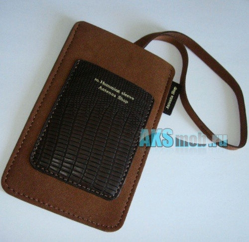 Чехол замшевый m.Humming sleeve Antenna Shop для Apple iPhone 2g/3g/3gs/4/4s коричневый