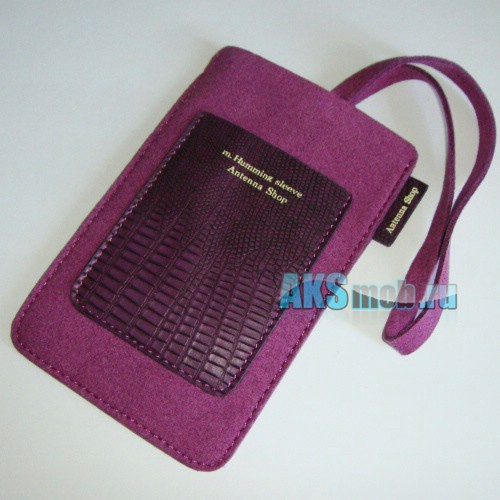 Чехол замшевый m.Humming sleeve Antenna Shop для Apple iPhone 2g/3g/3gs/4/4s фиолетовый