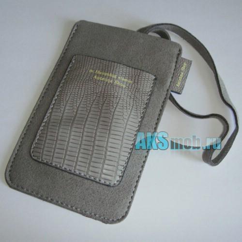Чехол замшевый m.Humming sleeve Antenna Shop для Apple iPhone 2g/3g/3gs/4/4s серый