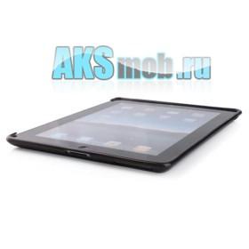 Силиконовый чехол для Apple iPad 2 (черный прозрачный)