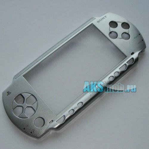 Панель передняя для PSP 1000 Fat (серебро)