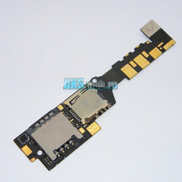 Плата sim карты и карты памяти для HTC A6380 Gratia - Оригинал