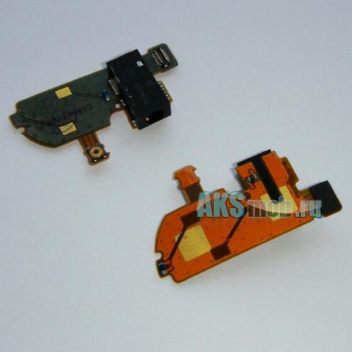 Шлейф для Nokia N97 mini - с компонентами, кнопкой и аудио разъемом