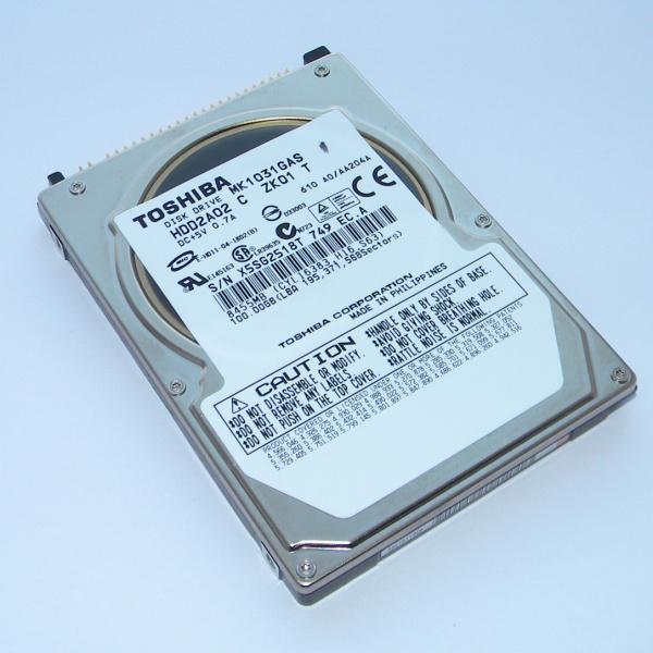 Жесткий диск HDD Toshiba MK1031GAS - IDE 2.5 inch - 100Gb для ноутбука и нетбука