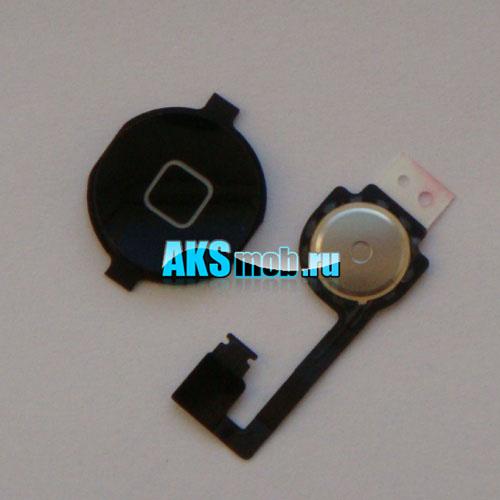 Кнопка Home (механизм и верхняя кнопка) для Apple iPhone 4G Оригинал черная