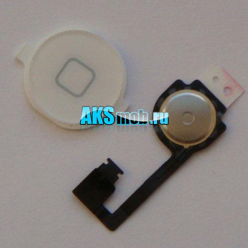 Кнопка Home (механизм и верхняя кнопка) для Apple iPhone 4G Оригинал белая
