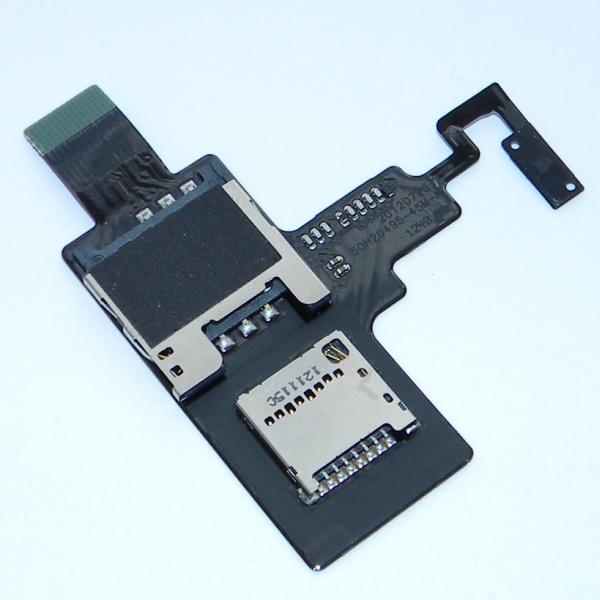 Плата sim карты, карты памяти и кнопкой для HTC T328e Desire X