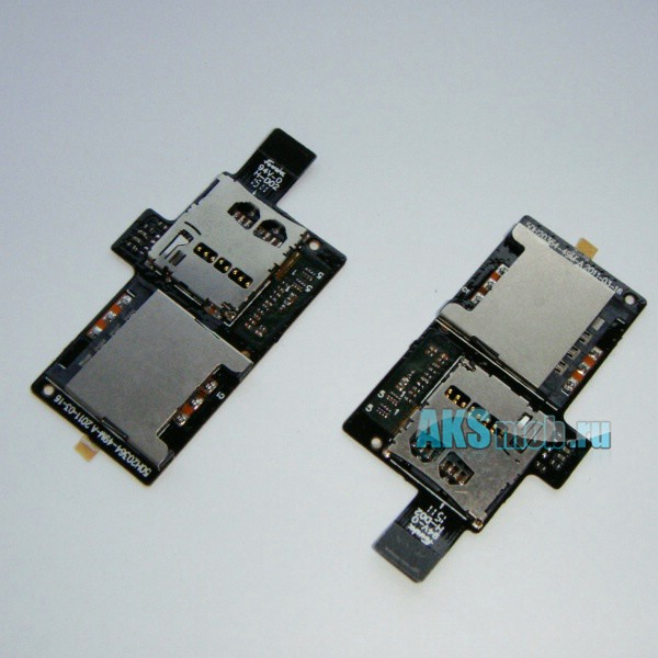 Шлейф - плата по sim карту и карту памяти для HTC Sensation