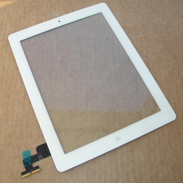Тачскрин и стекло (белый) для Apple iPad 2 (A1395/A1396/A1397) - сенсорная панель - Оригинал