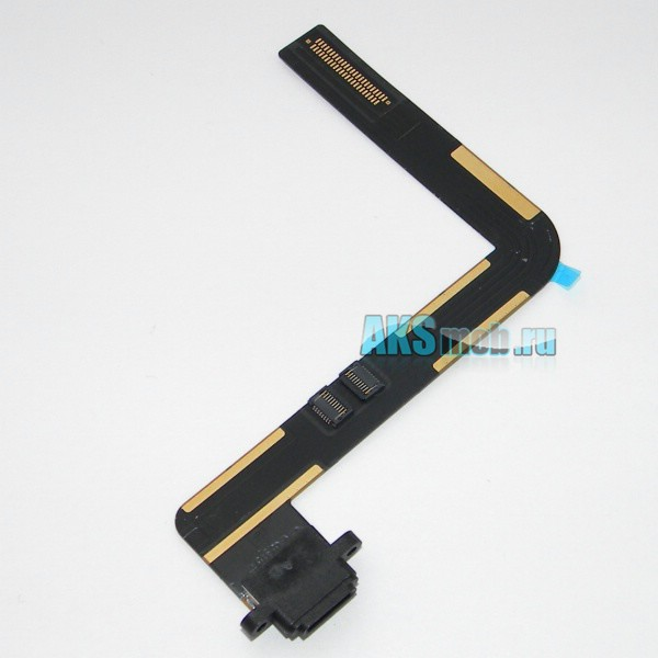 Шлейф 821-1716-A с разъемом зарядки и синхронизации для Apple iPad 5 Air (A1474, A1475) - черный