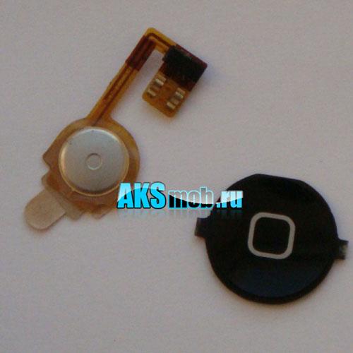 Кнопка Home черная в сборе для Apple iPhone 3G Оригинал