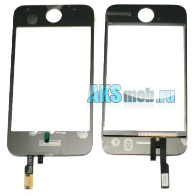 Тачскрин и стекло для Apple iPhone 3G Черный Копия