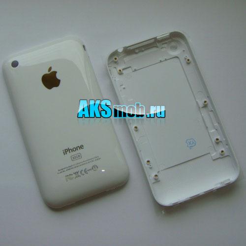 Корпус для Apple iPhone 3GS (Задняя крышка, белая)
