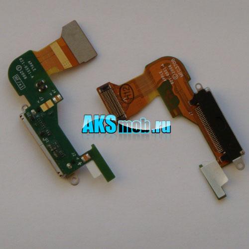 Шлейф с разъемом синхронизации и зарядки для Apple iPhone 3GS Оригинал
