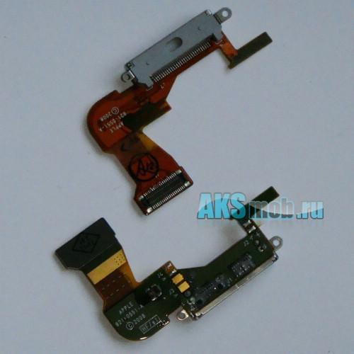 Шлейф с разъемом синхронизации и зарядки (белый) для Apple iPhone 3GS Оригинал