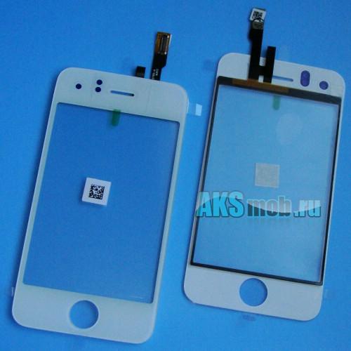 Тачскрин и стекло (белый) для Apple iPhone 3GS Оригинал