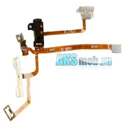 Шлейф с разъемом наушников, кнопка включения, вибромотор и переключатель для Apple iPhone 2G 8Gb Оригинал