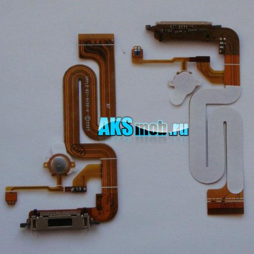 Шлейф с разъемом зарядки и сонхронизации и кнопкой home для Apple iPhone 2G Оригинал